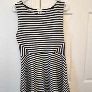 H&M black and white stripped dress!